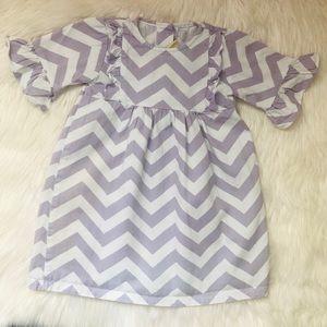Other - Toddler purple chevron print dress